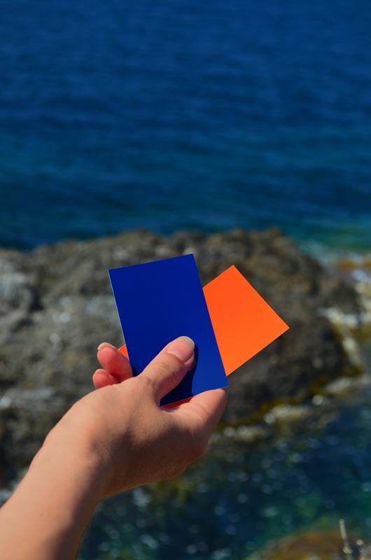 couleur aménagement orange et bleu