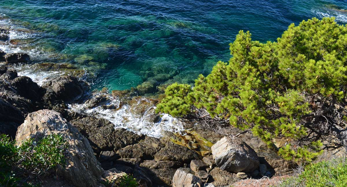 paysage vue mer en région paca