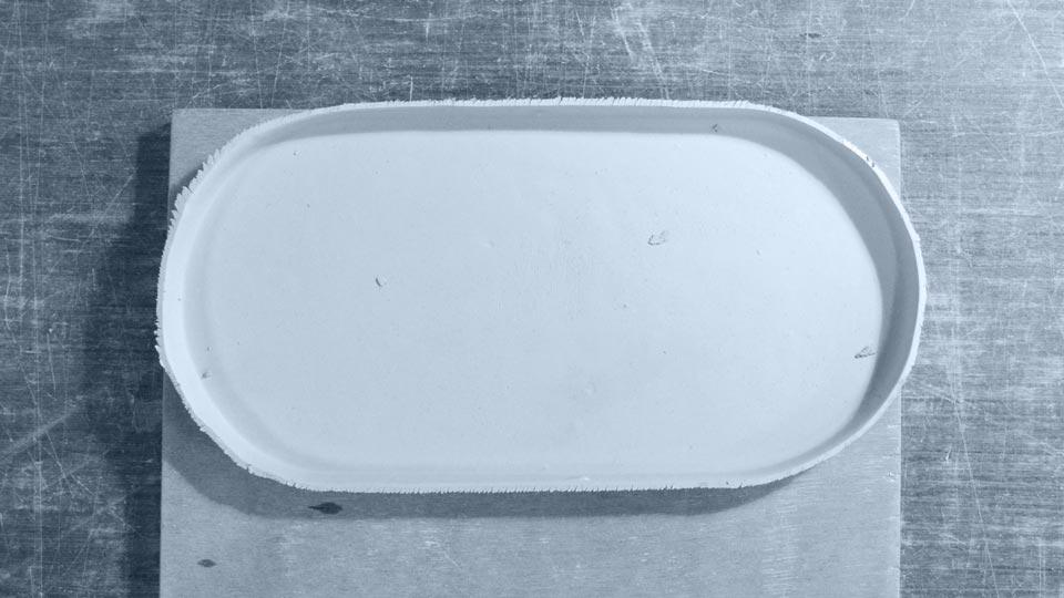 Pièce coulée en porcelaine