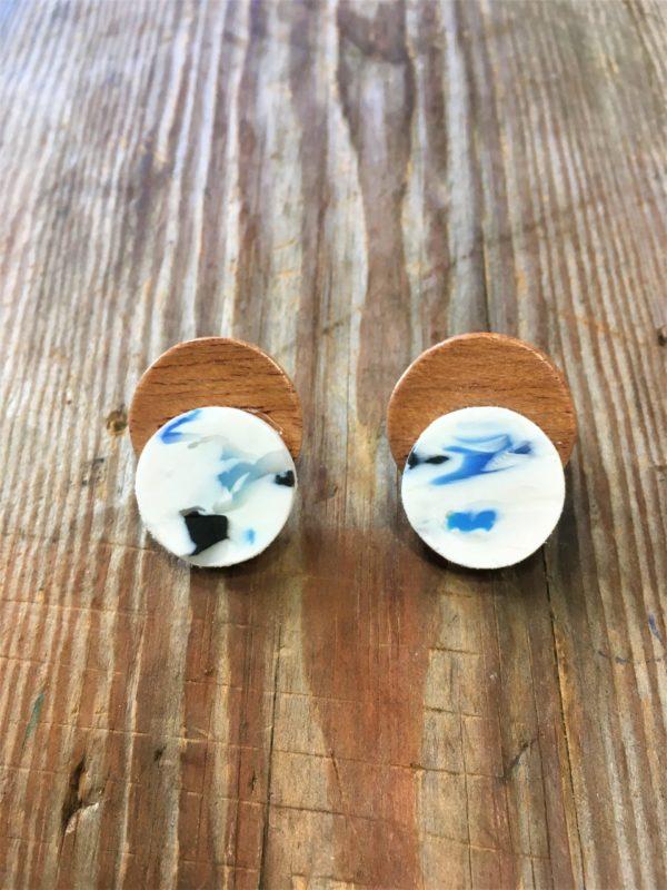 Cadeau boucle d'oreille en plastique recyclé