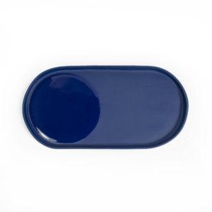 vide poche porcelaine bleu