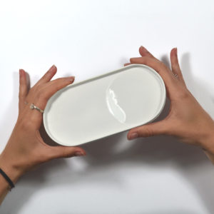 vide poche blanc porcelaine