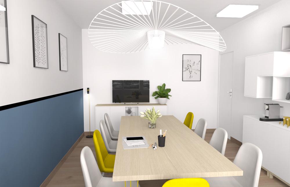 aménagement salle de réunion office notarial rhone alpes