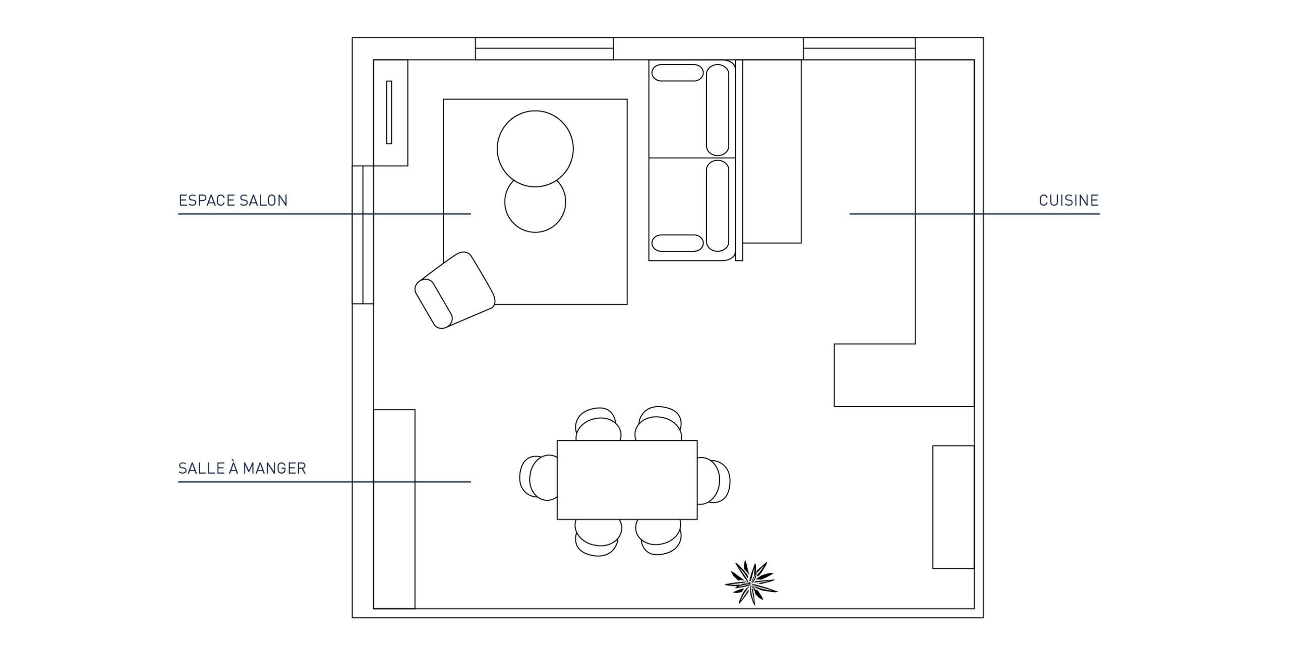 plan aménagement salon sejour aix en provence
