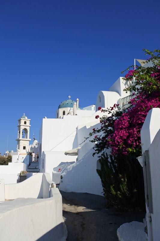 La ville de Fira à Santorin - Grèce