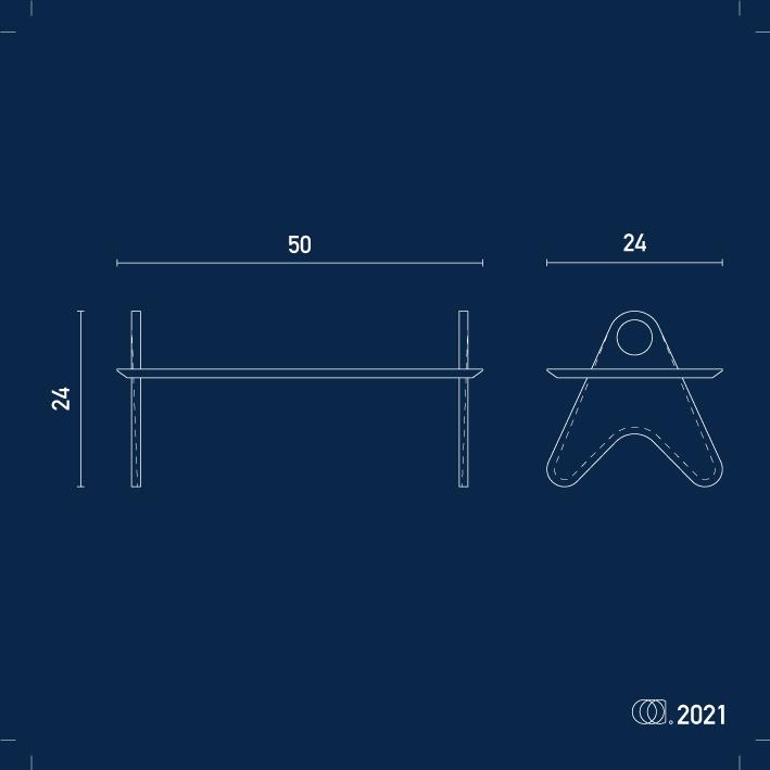 plan blanc sur bleu de la table de pique-nique mezze