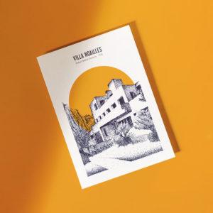 mock up carte postale villa noailles