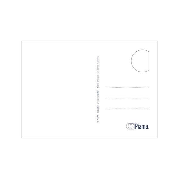 dos de carte postale