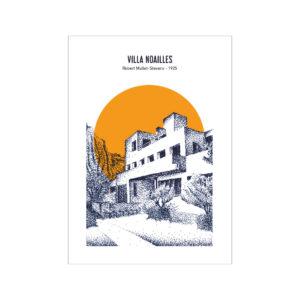 carte postale villa noailles