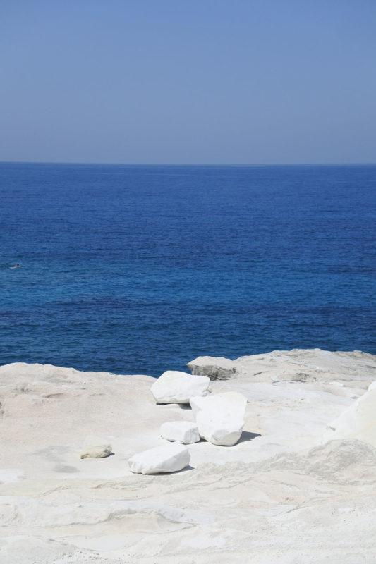 plage de Sarakiniko à Milos